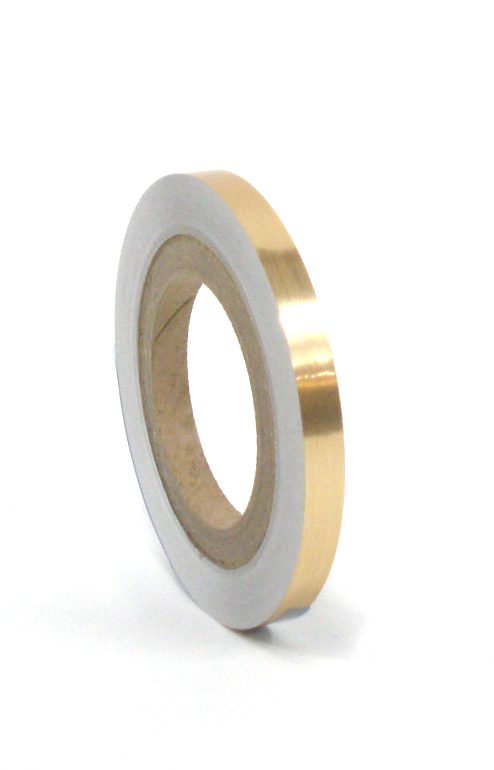 "Brushed Gold Tape 1/2""X125'"