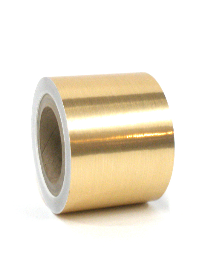 "Brushed Gold Tape 4""X125'"