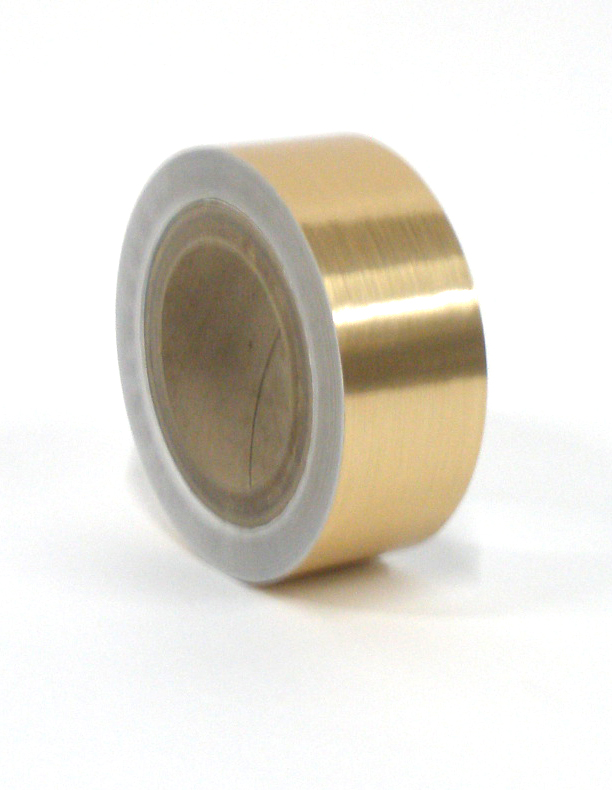"Brushed Gold Tape 2""X125'"
