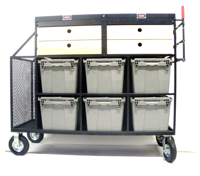 Custom Art Dept Kit Cart 6 Crate