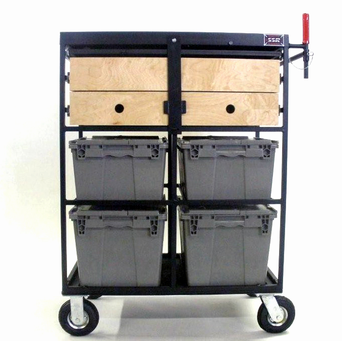 Custom 4 Crate on Set Cart