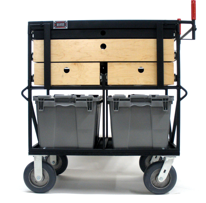 Custom On Set Cart 2 Crate W/Drawers