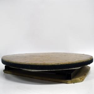 Turntable Manual 3' Wood