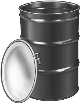 Water Barrel 30 Gal Steel Drum
