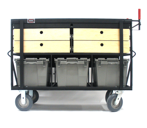Custom 3 Crate on Set Cart Cart