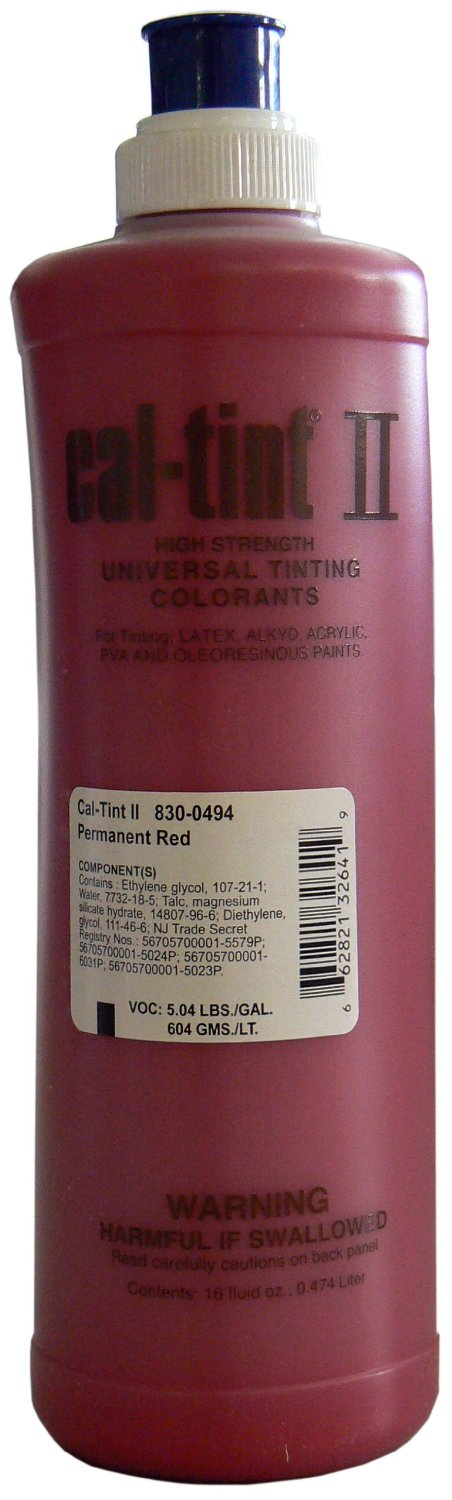 Cal-Tint Tinting Permanet Red 16oz
