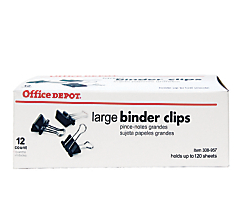 Binder Clips L 12pk